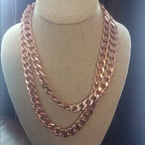 """BaubleBar Rose Gold Chunky Double Chain 20"""""""